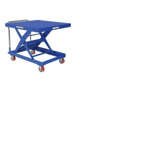 "AUTOMATIC HEIGHT ADJUSTMENT CART, Cap. (lbs.): 500, Platform W x L: 20-3/8 x 40"", Service Range: 14 - 34"", Overall Size W x L x H: 20-3/8 x 49-1/8 x 37-9/16"""