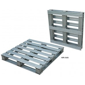 """STEEL PALLETS w/HOT-DIPPED GALVANIZED FINISH, Overall Size W x D x H: 40 x 48 x 4-3/4"""""""