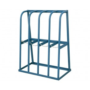 "VERTICAL STORAGE RACK, Cap. (lbs.)/Bay: 1500, No. of Bays: 4, Distance Between Bays: 9-3/4"", Size W x D x H: 48-1/2 x 24 x 61"""