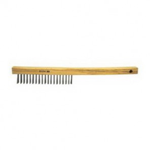 Vortec Pro® 25154 Hand Wire Scratch Brush, 6 in Brush, 13-1/2 in L x 1 in W Block, 1 in Stainless Steel Trim