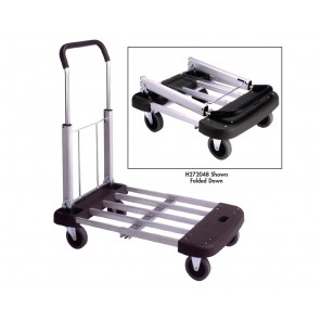 "TELESCOPING/FOLDING ALUMINUM TRUCK, Retracted Size: 17-1/2 x 21"", Extended Size: 17-1/2 x 29-1/2"", Cap. (lbs.): 330"
