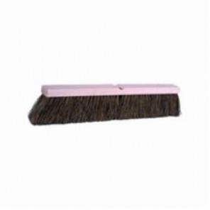 Weiler® 42023 Threaded Tip Push Broom, 24 in OAL, 4 in Trim, Medium/Coarse Sweep Face, Brown Palmyra Bristle