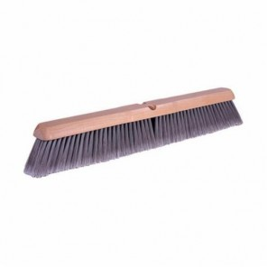 Weiler® 42042 Threaded Tip Push Broom, 24 in OAL, Fine Sweep Face, Flagged Silver Polystyrene Bristle