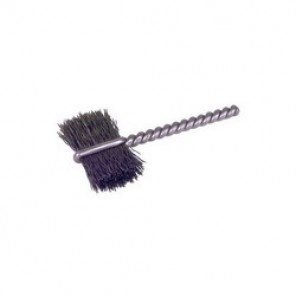 Weiler® 21036 Burrite Single Stem Single Spiral Power Tube Brush, 7/8 in Dia x 5/8 in L, 2-1/4 in OAL, 0.005 in