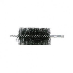 Weiler® 44149 Double Spiral Flue Brush, 1 in Brush, 1/4 x 2 in NPT, 7-1/2 in OAL, Cylindrical Handle, Steel Trim