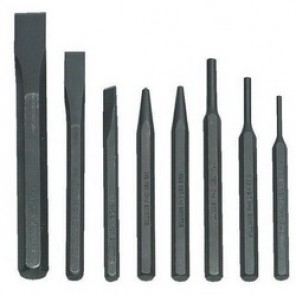 Williams® PC-8 Heavy Duty Punch and Chisel Set, Pin/Solid/Center/Cold, 3 5/16 to 3/4 in Chisel, 5 1/8 to 1/4 in Punch, 8 Pieces