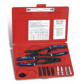 Williams® PL-529 Heavy Duty Plier and Tip Set, Snap Ring, 18 Pieces