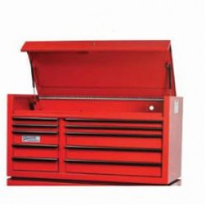 Williams® W55TC10Y Professional Top Chest, 28-1/2 in H x 55 in W x 24 in D, Aluminum Handle/Steel Drawer