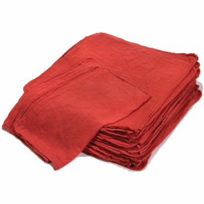 RED SHOP TOWEL IRREGULAR, 2500/BALE