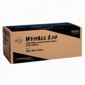 WypAll; 05322 Utility Wipes, 12 in W, 125 Sheets, Paper, White