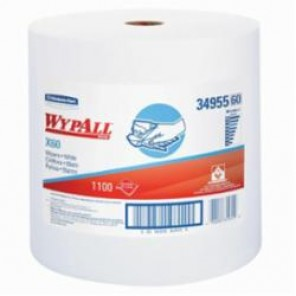 WypAll; 34955 Light Weight General Purpose Wiper, 12-1/2 in W, 1100 Sheets, Hydroknit®, White