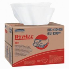 WypAll; 41044 Cleaning Wiper, 12-1/2 in W, 160 Sheets, Hydroknit®, White