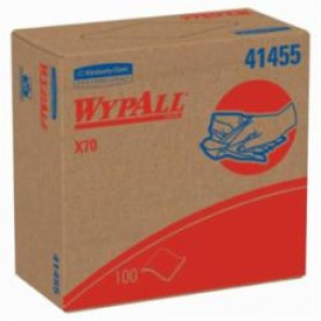 WypAll; 41455 Long Lasting Reusable Cleaning Wiper, 16.8 in W, 100 Sheets, Hydroknit®, White