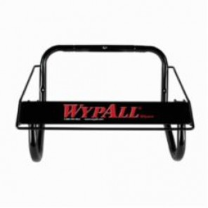 WypAll; 80579 Jumbo Roll Dispenser, 8.8 in L x 16.8 in W x 10.8 in H, Wall Mount, Metal, Black