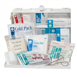 Hart 0731 Bulk First Aid Kit, OSHA Standards, Metal Box, For Up To 25 People